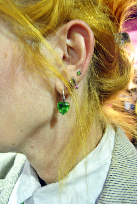 Earrings, colorful jewelry, handmade jewelry, emerald green