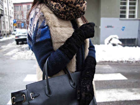 Lace, fur, leopard